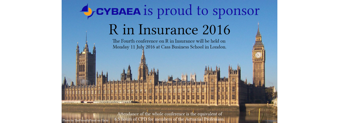 [CYBAEA is proud to sponsor R in Insurance 2016]